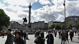 Trafalgar Square London 1 handheld Footage