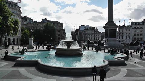 Trafalgar Square London 3 Stock Video Footage