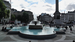 Trafalgar Square London 3 Stock Video Footage