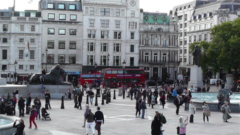 Trafalgar Square London 5 Stock Video Footage