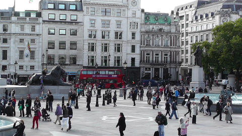 Trafalgar Square London 5 Footage