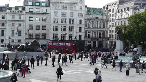 Trafalgar Square London 5 Stock Video Footage
