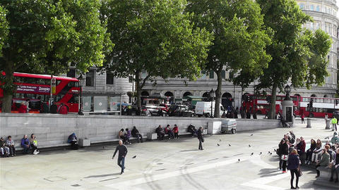 Trafalgar Square London 7 Stock Video Footage