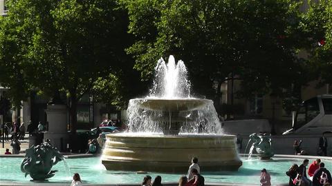 Trafalgar Square London 9 zoom Stock Video Footage