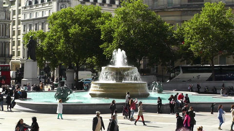 Trafalgar Square London 9 zoom Footage