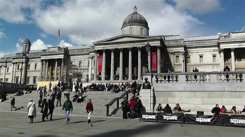 Trafalgar Square London 13 handheld Footage
