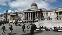 Trafalgar Square London 13 handheld Stock Video Footage