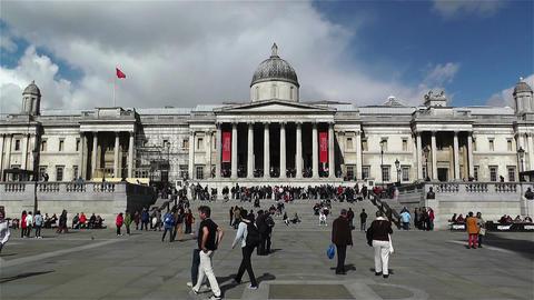 Trafalgar Square London 15 handheld Stock Video Footage