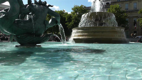 Trafalgar Square London 18 Stock Video Footage