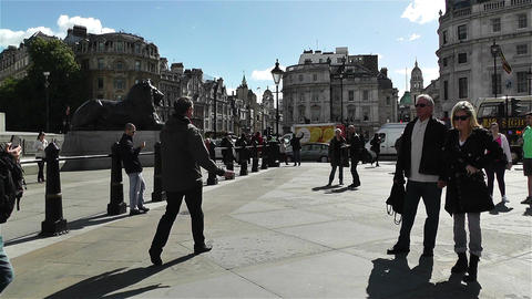 Trafalgar Square London 20 Stock Video Footage