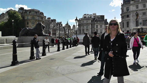 Trafalgar Square London 20 Footage