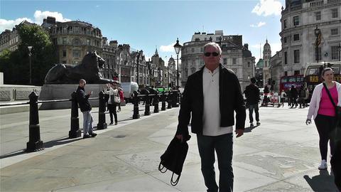 Trafalgar Square London 20 Stock Video Footage