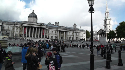 Trafalgar Square London 22 handheld Footage