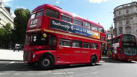 Trafalgar Square London 25 handheld pan Footage