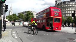 Trafalgar Square London 25 handheld pan Stock Video Footage