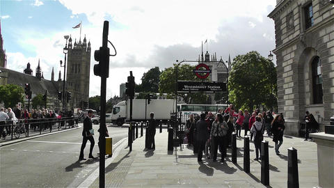 Westminster London British Parliament 6 handheld Stock Video Footage