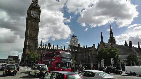 Westminster London British Parliament 5 handheld Stock Video Footage