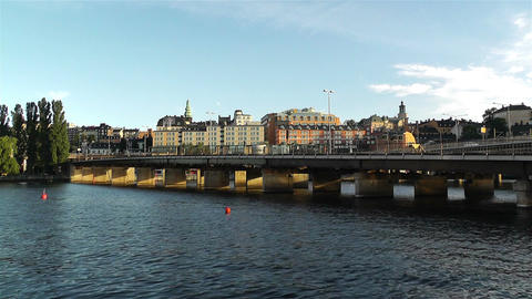 Stockholm view from Gamla Stan 7 Footage