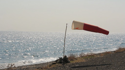 WIND SOCK AT SHORE Stock Video Footage