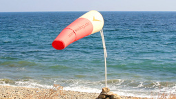 WIND SOCK AT SHORE Footage