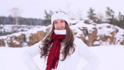 Winter Girl. Still Footage