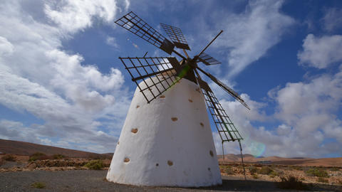 windmill and clouds time lapse 11127 Stock Video Footage
