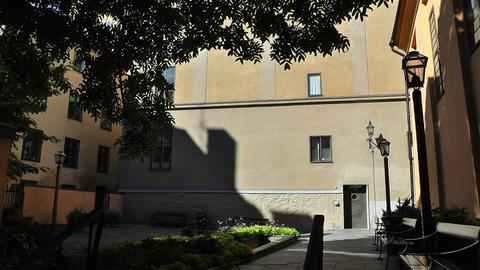 Inner Courtyard in Stockhom Sweden 1 Footage