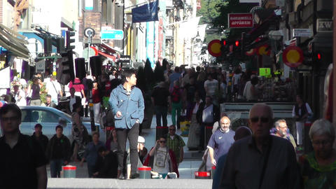 Stockholm Drottniggatan 15 Stock Video Footage