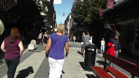Stockholm Drottniggatan 21 pov native slowmotion Stock Video Footage