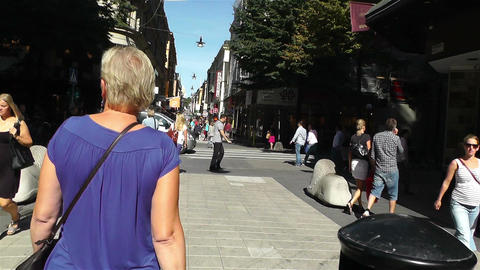 Stockholm Drottniggatan 21 pov native slowmotion Footage