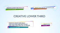 Creative Lower Third - Apple Motion and Final Cut Pro X Template Plantilla de Apple Motion
