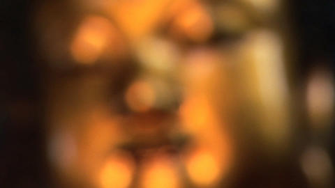 Golden Buddha Face Stock Video Footage