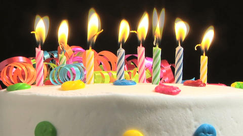 Birthday candles, time lapse Footage