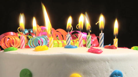 Birthday candles, time lapse Stock Video Footage