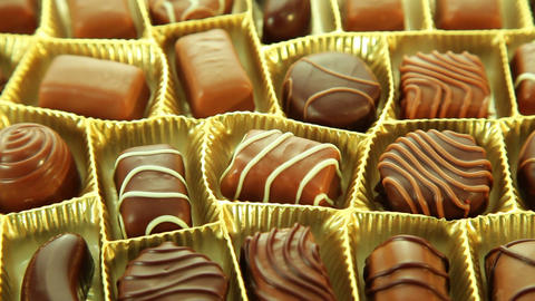 Pralines Box, Delicious Chocolates stock footage