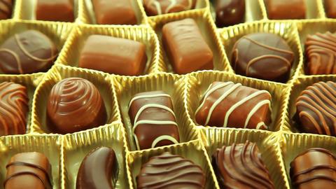 Pralines box, delicious chocolates Stock Video Footage