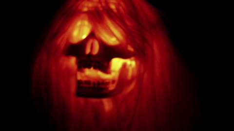Spooky skull halloween background Stock Video Footage