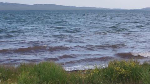 Lake Shira Waves 02 Stock Video Footage