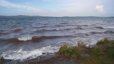 Lake Shira Waves 04 Stock Video Footage