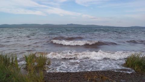 Lake Shira Waves 06 Stock Video Footage