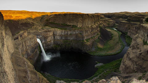 Palouse Falls Sunset Time Lapse Stock Video Footage