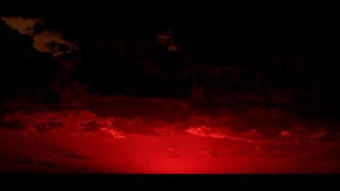 4K. Timelapse sunset on the sea Stock Video Footage