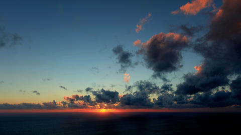 4K. Timelapse Sunset On The Sea. Earthquake. FULL stock footage
