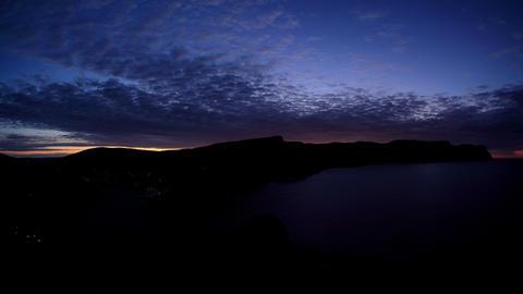 4K. Timelapse sunrise in the mountains. Balaklava Stock Video Footage
