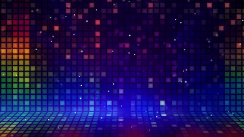 multicolored mosaic flashing loopable background Stock Video Footage