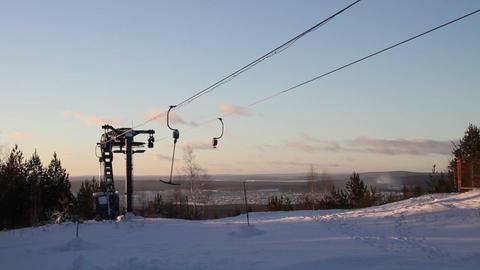 Work ski lift Footage