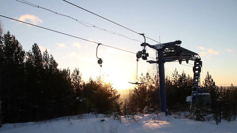 Work ski lift Stock Video Footage