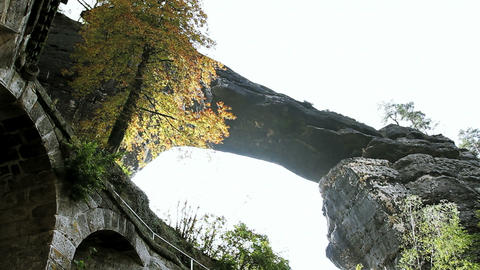 Pravcicka gate. Bohemian Switzerland, Czech Republ Stock Video Footage