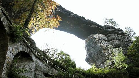 Pravcicka gate. Bohemian Switzerland, Czech Republ Stock Video Footage