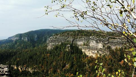 Rocks in the Czech Switzerland Footage